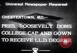 Image of Franklin D Roosevelt Chestertown Maryland USA, 1933, second 2 stock footage video 65675032943