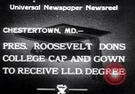 Image of Franklin D Roosevelt Chestertown Maryland USA, 1933, second 4 stock footage video 65675032943