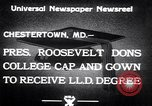 Image of Franklin D Roosevelt Chestertown Maryland USA, 1933, second 5 stock footage video 65675032943