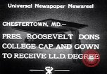 Image of Franklin D Roosevelt Chestertown Maryland USA, 1933, second 8 stock footage video 65675032943