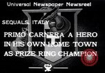Image of Primo Carnera Sequals Italy, 1933, second 1 stock footage video 65675032945