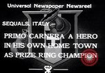 Image of Primo Carnera Sequals Italy, 1933, second 5 stock footage video 65675032945