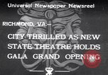 Image of States Theater Richmond Virginia USA, 1933, second 1 stock footage video 65675032949