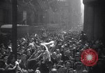 Image of Crowds in New York City celebrate end of World War II in Europe New York City USA, 1945, second 3 stock footage video 65675032951