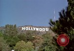 Image of Hollywood sign Hollywood Los Angeles California USA, 1976, second 5 stock footage video 65675033262