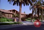 Image of Palm tree lined street in neighborhood Los Angeles California USA, 1976, second 9 stock footage video 65675033263