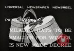 Image of hats Paris France, 1932, second 5 stock footage video 65675033278