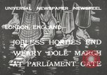 Image of unemployed people march through Great Yarmouth London England United Kingdom, 1932, second 1 stock footage video 65675033280