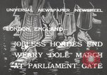 Image of unemployed people march through Great Yarmouth London England United Kingdom, 1932, second 3 stock footage video 65675033280