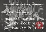 Image of unemployed people march through Great Yarmouth London England United Kingdom, 1932, second 4 stock footage video 65675033280