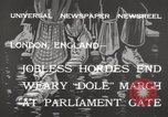 Image of unemployed people march through Great Yarmouth London England United Kingdom, 1932, second 11 stock footage video 65675033280