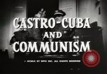 Image of Fidel Castro Cuba, 1959, second 7 stock footage video 65675033300
