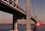 Image of Verrazano Bridge Staten Island New York USA, 1965, second 7 stock footage video 65675033337