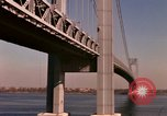 Image of Verrazano Bridge Staten Island New York USA, 1965, second 12 stock footage video 65675033337