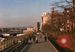 Image of Pedestrians on Brooklyn Queens Expressway New York United States USA, 1965, second 11 stock footage video 65675033342