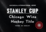Image of Stanley Cup Detroit Michigan Olympia stadium USA, 1961, second 2 stock footage video 65675033525