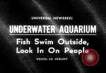 Image of underwater aquarium Oak Bay British Columbia Canada, 1965, second 1 stock footage video 65675033537