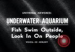 Image of underwater aquarium Oak Bay British Columbia Canada, 1965, second 5 stock footage video 65675033537