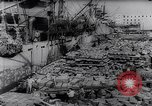 Image of war supplies Italy Port of Naples, 1943, second 7 stock footage video 65675033561