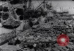 Image of war supplies Italy Port of Naples, 1943, second 8 stock footage video 65675033561