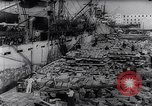 Image of war supplies Italy Port of Naples, 1943, second 11 stock footage video 65675033561