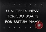 Image of testing of torpedo boats Atlantic coast, 1943, second 1 stock footage video 65675033564