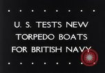Image of testing of torpedo boats Atlantic coast, 1943, second 6 stock footage video 65675033564