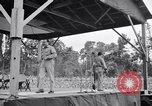 Image of Bob Hope and Jerry Colonna entertain U.S. troops  Bougainville Solomon Islands, 1944, second 10 stock footage video 65675033574