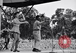Image of Patti Thomas of Bob Hope U.S.O.troupe entertains troops  Bougainville Solomon Islands, 1944, second 3 stock footage video 65675033575