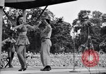 Image of Patti Thomas of Bob Hope U.S.O.troupe entertains troops  Bougainville Solomon Islands, 1944, second 5 stock footage video 65675033575