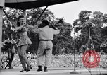 Image of Patti Thomas of Bob Hope U.S.O.troupe entertains troops  Bougainville Solomon Islands, 1944, second 6 stock footage video 65675033575