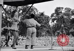 Image of Patti Thomas of Bob Hope U.S.O.troupe entertains troops  Bougainville Solomon Islands, 1944, second 7 stock footage video 65675033575