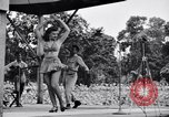Image of Patti Thomas of Bob Hope U.S.O.troupe entertains troops  Bougainville Solomon Islands, 1944, second 11 stock footage video 65675033575