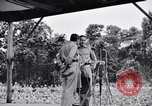 Image of Bob Hope Troupe performing on U.S.O. tour in World War II Bougainville Solomon Islands, 1944, second 2 stock footage video 65675033576