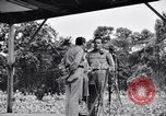 Image of Bob Hope Troupe performing on U.S.O. tour in World War II Bougainville Solomon Islands, 1944, second 4 stock footage video 65675033576