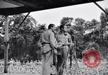 Image of Bob Hope Troupe performing on U.S.O. tour in World War II Bougainville Solomon Islands, 1944, second 10 stock footage video 65675033576