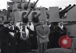 Image of Saudi Royal Party meets Franklin Roosevelt Mediterranean Sea, 1945, second 3 stock footage video 65675033755