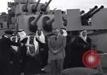 Image of Saudi Royal Party meets Franklin Roosevelt Mediterranean Sea, 1945, second 5 stock footage video 65675033755
