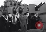Image of Saudi Royal Party meets Franklin Roosevelt Mediterranean Sea, 1945, second 6 stock footage video 65675033755