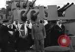 Image of Saudi Royal Party meets Franklin Roosevelt Mediterranean Sea, 1945, second 7 stock footage video 65675033755