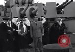 Image of Saudi Royal Party meets Franklin Roosevelt Mediterranean Sea, 1945, second 10 stock footage video 65675033755