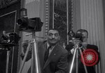 Image of Preparation for press conference with President United States USA, 1955, second 2 stock footage video 65675033781