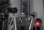 Image of Preparation for press conference with President United States USA, 1955, second 3 stock footage video 65675033781