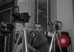 Image of Preparation for press conference with President United States USA, 1955, second 6 stock footage video 65675033781