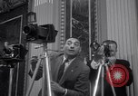 Image of Preparation for press conference with President United States USA, 1955, second 7 stock footage video 65675033781