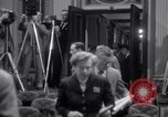 Image of Preparation for press conference with President United States USA, 1955, second 9 stock footage video 65675033781