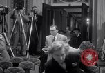 Image of Preparation for press conference with President United States USA, 1955, second 10 stock footage video 65675033781
