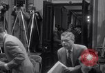 Image of Preparation for press conference with President United States USA, 1955, second 12 stock footage video 65675033781