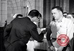 Image of polio vaccination United States USA, 1955, second 1 stock footage video 65675033788