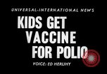 Image of polio vaccination California United States USA, 1955, second 2 stock footage video 65675033806